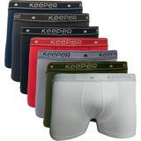 Cueca Marca Keeper Modelo Boxer Kit C/10 Peça Cores Variadas