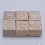Sello Mandala. Madera Rectangular Diario Scrapbooking !!