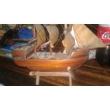 Barco De Madera Para Decoracion