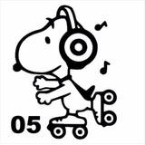Adesivo Snoopy Para Geladeira, Parede E Móveis Decoração