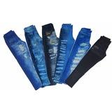 Kit 6 Calça Leg Fake Imita Jeans Legging - Promoção Revenda