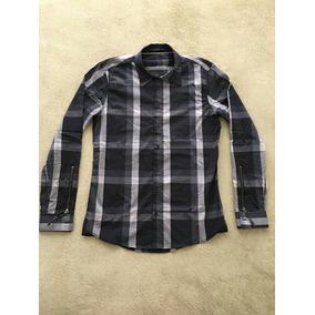 Camisa Tascani Negra Escocesa