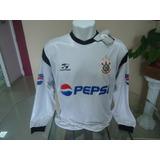 Camisa Corinthians Topper / Pepsi 2002 #7 Manga Longa