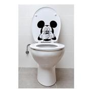 Vinil Decorativo Pata Tapa De Wc Modelo Raton Mickey