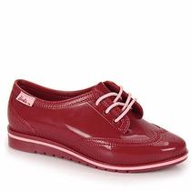 Sapato Oxford Barbie Vinho Infantil Feminino Frete Grátis