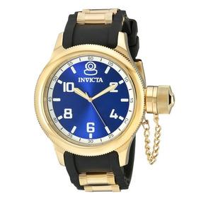 Relógio Invicta Russian Diver 1437 Azul Dourado Masculino