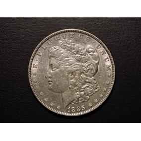 Usa Morgan Dolar 1885 Plata 900 26,7 Gs Sin Circular-