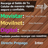 Recarga De Saldo Movistar Digitel Movilnet Directv Inter