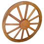 Roda De Madeira Carroça Decoração Fazenda Sitio Lustre