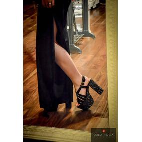 Sandalia Lola Roca Original , Cuero Glitter, Calzado Fiesta