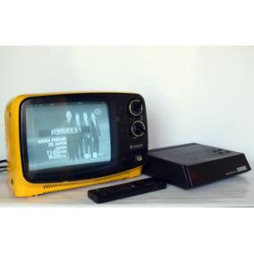 Tv Hitachi 9 Mod I-28 Vintage + Conversor Canales Cable