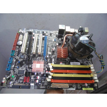 Placa-mãe P Pc 775 Ddr2 Ddr3 Asus P5kc + Core 2 Quad Q9450