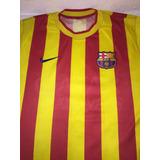 Camisa Barcelona Uniforme De Viagem - Camisas de Times Espanhóis ... 2d30bcc8af299