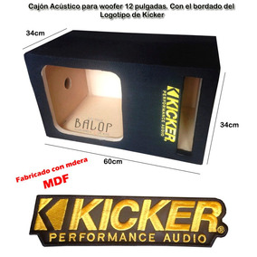 Cajon Acústico De Mdf Para Woofer 12 Kicker Somos Fabricante