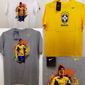 Blusas Camisa Nike Cbf Brasil Neymar Original Importada