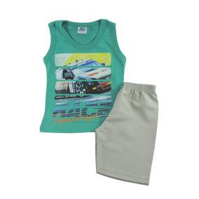 Kit 2 Conjuntos Camiseta E Short Infantil Menino