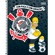 Caderno Univ Simpsons-corinthians 200 Fls10 Matérias Tilibra