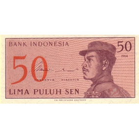 Indonédia - 50 Sen De 1.964 - Fe - Frete 12,00