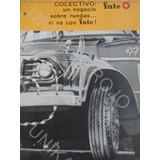Antiguo Catálogo Fate Neumático Colectivo Original Década 60
