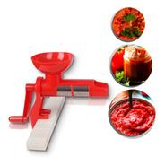 Moedor De Tomate Manual Caseiro Vermelho P/ Novas Receitas