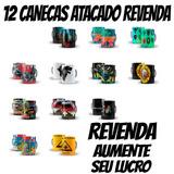 Caixa Lote 12 Caneca Atacado Bandas, Séries,revenda