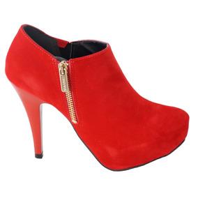 a05214f4d2 Via Uno Bota - Sapatos Vermelho no Mercado Livre Brasil