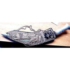 Antiguo Cuchillo Sable Kukri, Traído De Europa En 1972 Impec