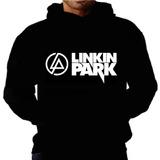 Blusa Moletom Linkin Park Capuz Bolso Banda Camisa Inverno