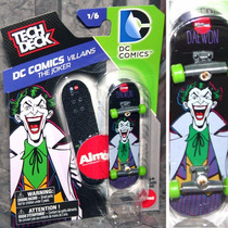 Tech Deck Skate De Dedo Dc Comics Coringa Joker Almost Novo