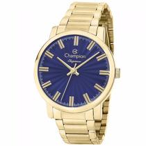 Relógio Champion Feminino Dourado Barato Cn26037a 50mnetros/