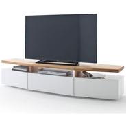 Mueble Para Tv Moderno Ref: Hifi En Lacada Y  Madera