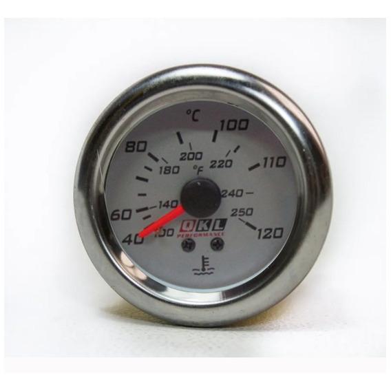 Reloj Instrumental Temperatura Agua Tuning 52mm Croma/blanco