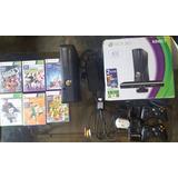 Xbox 360 Kinect 4gb 2 Controles 6 Juegos Originales