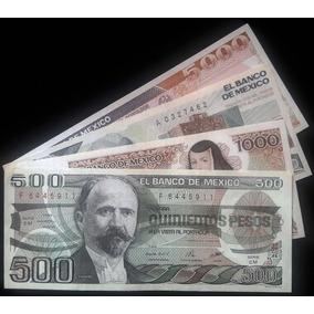 Set De 4 Billetes Mexicanos Antiguos (nuevos)