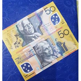 Billete Plastico Australia 50 Dolares