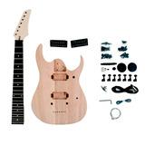 Kit De Guitarra Desmontada Rg 7 Cordas Hh Em Mogno Sngk043