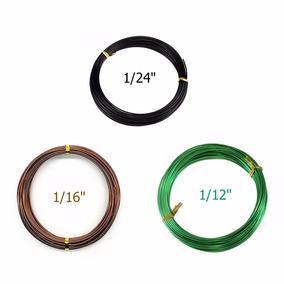 Kit 3 Arames Bonsai 1.0mm 1.5mm 2.0mm 9,7 M Cada Total 29 M