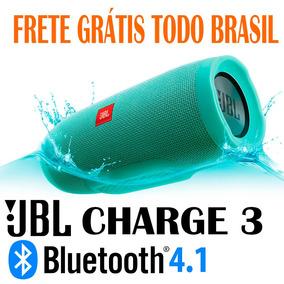 Caixa De Som Bluetooth Jbl Charge 3 A Prova D`água 20w Rms