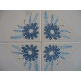 4 Azulejos Antigos Motivação Floral - Klabin 15,5x15,5cm