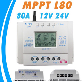 Controlador De Carga Para Painel Solar 80a Mppt 12e24v