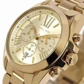 Relógio Feminino Kit-2 Um Dourado + Um Cromado Lindos Oferta