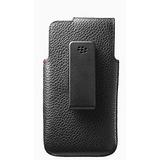 Funda De Cuero Para Blackberry Z10 - Negro