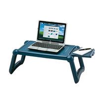 Mesa Apoio Suporte Sofá Cama P/ Refeições Notebook Azul