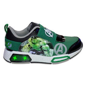Zapatillas Marvel Increible Hulk Niño Luces Urbanas