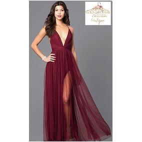 Vestidos para graduacion de color vino