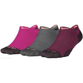 Calcetines Nike Dama Dry Cushioned Gris/vino/ngo Originales