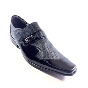 Sapato Social Calvest Couro Preto Masculino