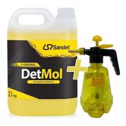 Shampoo 5l Lava Moto Off Road Detmol Sandet + Pulverizador *
