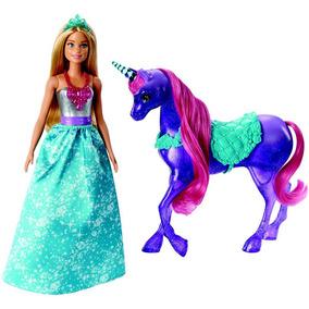 Boneca Barbie - Barbie Dreamtopia - Barbie E Unicórino - Mat
