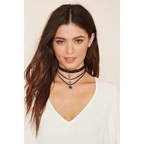 Collar Choker Gargantilla Bisutería Vintage Moda 3 Piezas